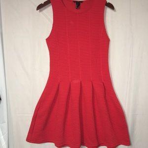 H&M SMALL reddish-orange fit and flare dress
